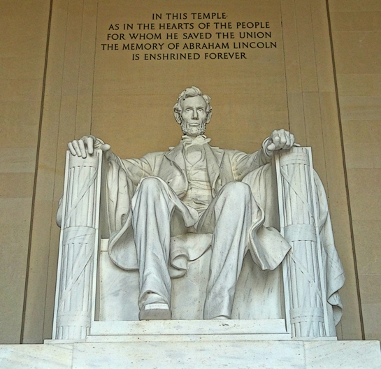 Lincoln Marble Statue