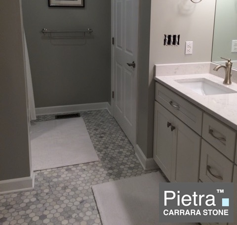 Pietra Carrara 2x2 Hexagon Mosaic