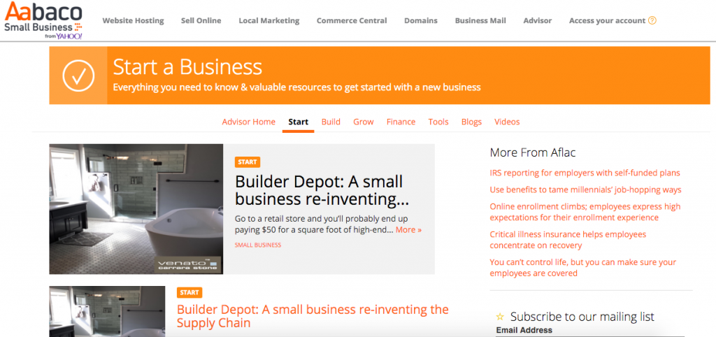 The Number one Position on Aabaco Small Business %22start%22 The Builder Depot