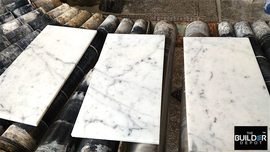 Bianco 8x16%22 Coming down the production line