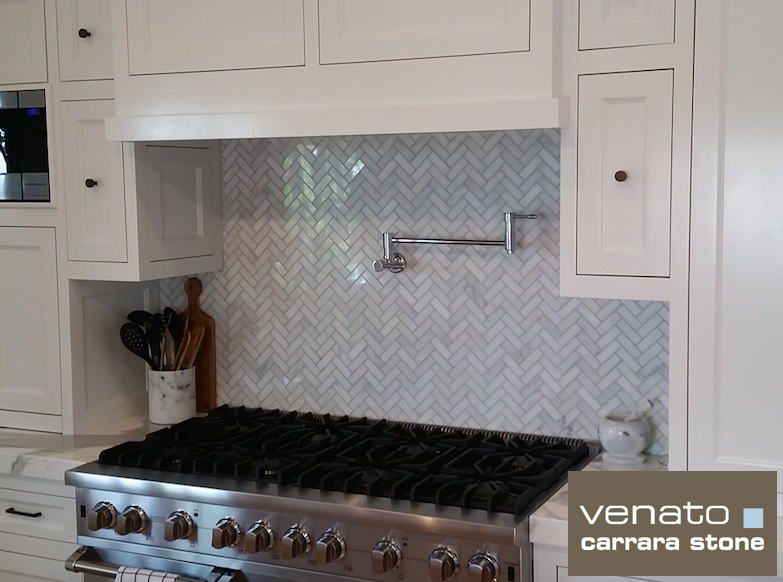 Carrara Venato Polished Mosaic