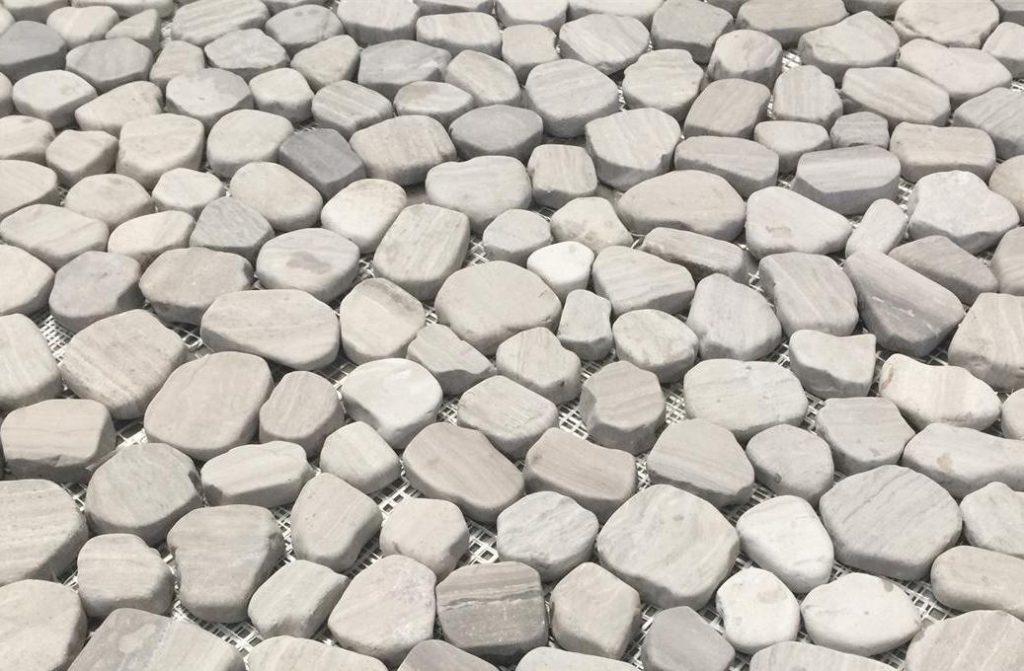 Silver Cream White Oak Pebbles