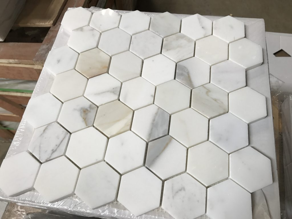 Calacatta Hexagon Mosaic Tile