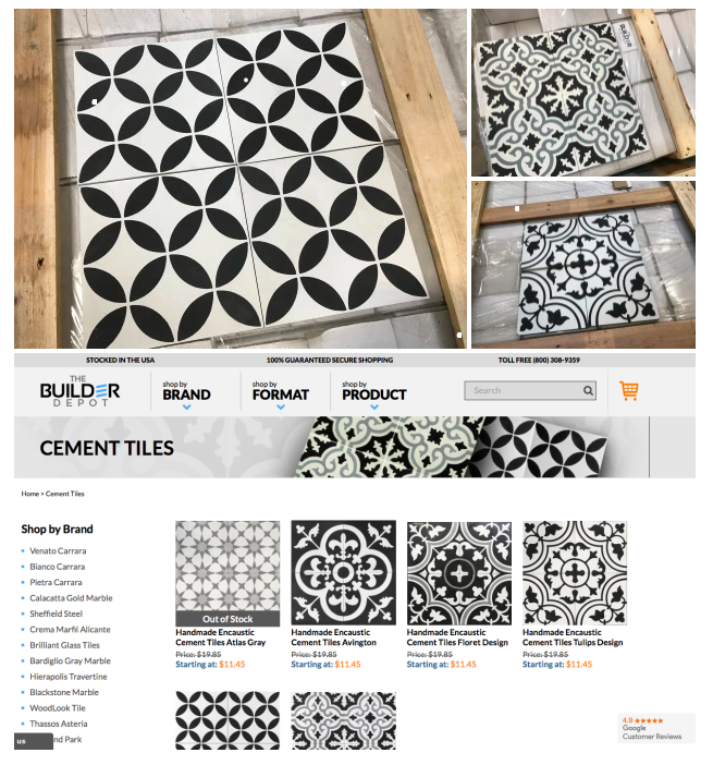 Handmade Encaustic Cement Tiles
