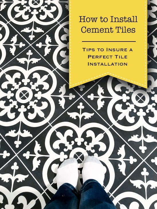 Installing Cement Tiles and video